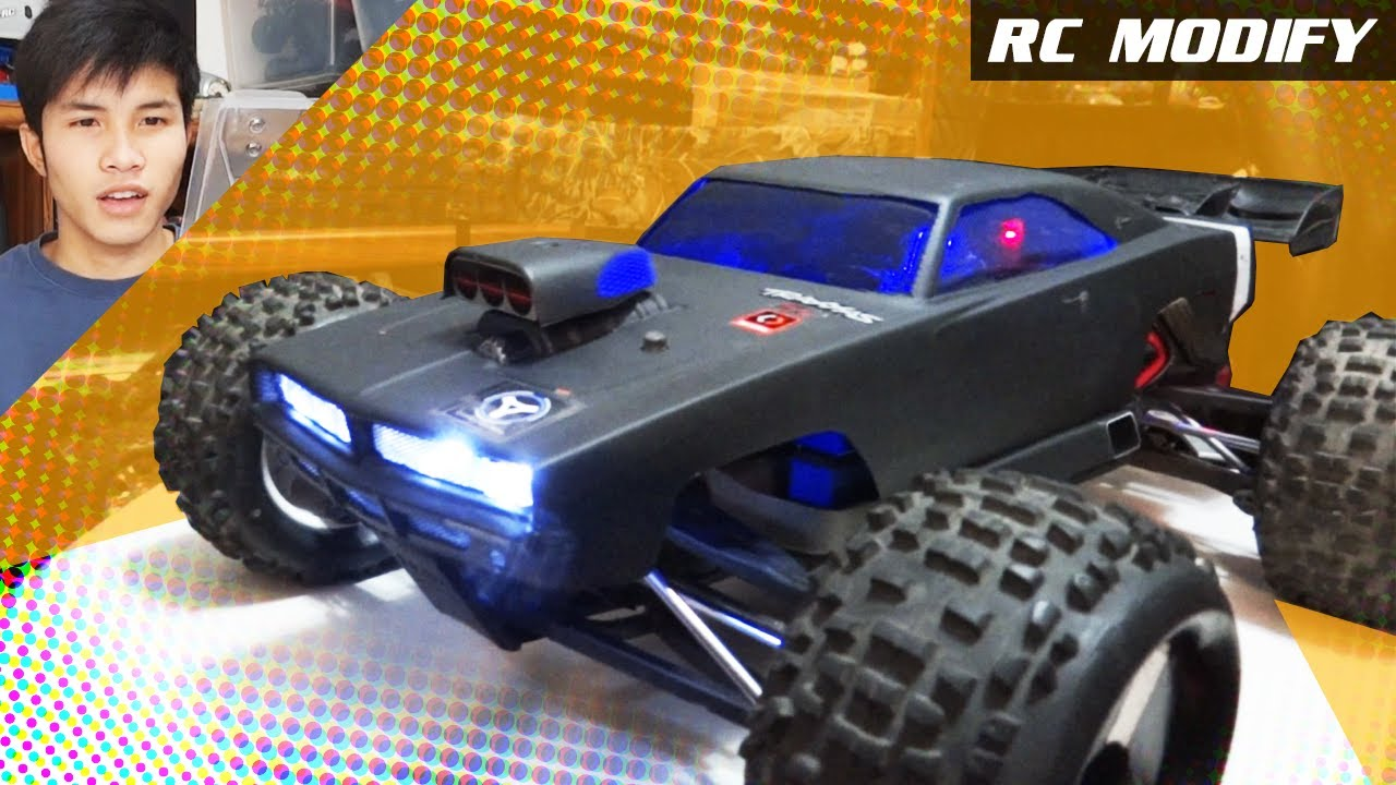 Rc Modify 2 Hpi Dodge Charger Body On Traxxas E Revo