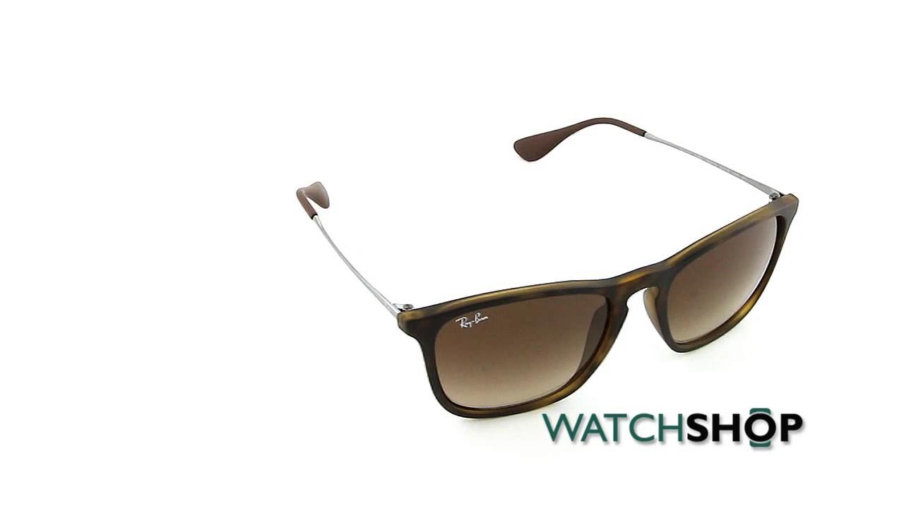 628d28424b Ray-Ban Men s Chris Sunglasses (RB4187-856 13-54) - YouTube