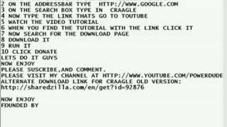 HOW TO GET CRAAGLE UPDATED VERSION