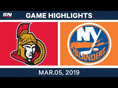 NHL Highlights | Senators vs. Islanders – Mar 5, 2019