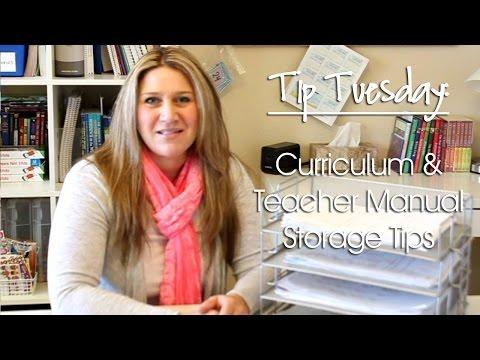 Tip Tuesday: Curriculum & Teacher's Manual Storage Tips