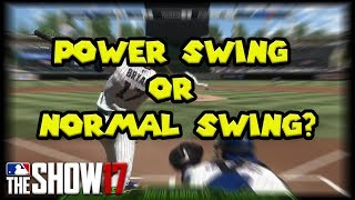 Power Swing, Normal Swing, or Contact Swing? MLB The Show 17 Tips + Tutorial