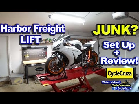 Harbor Freight Motorcycle Lift Review - Is it JUNK?