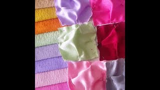 Parça Kumaştan Minder Yapımı / How To Make a Small Puff / Renkli Sandalye Minderi / Colored Fabric