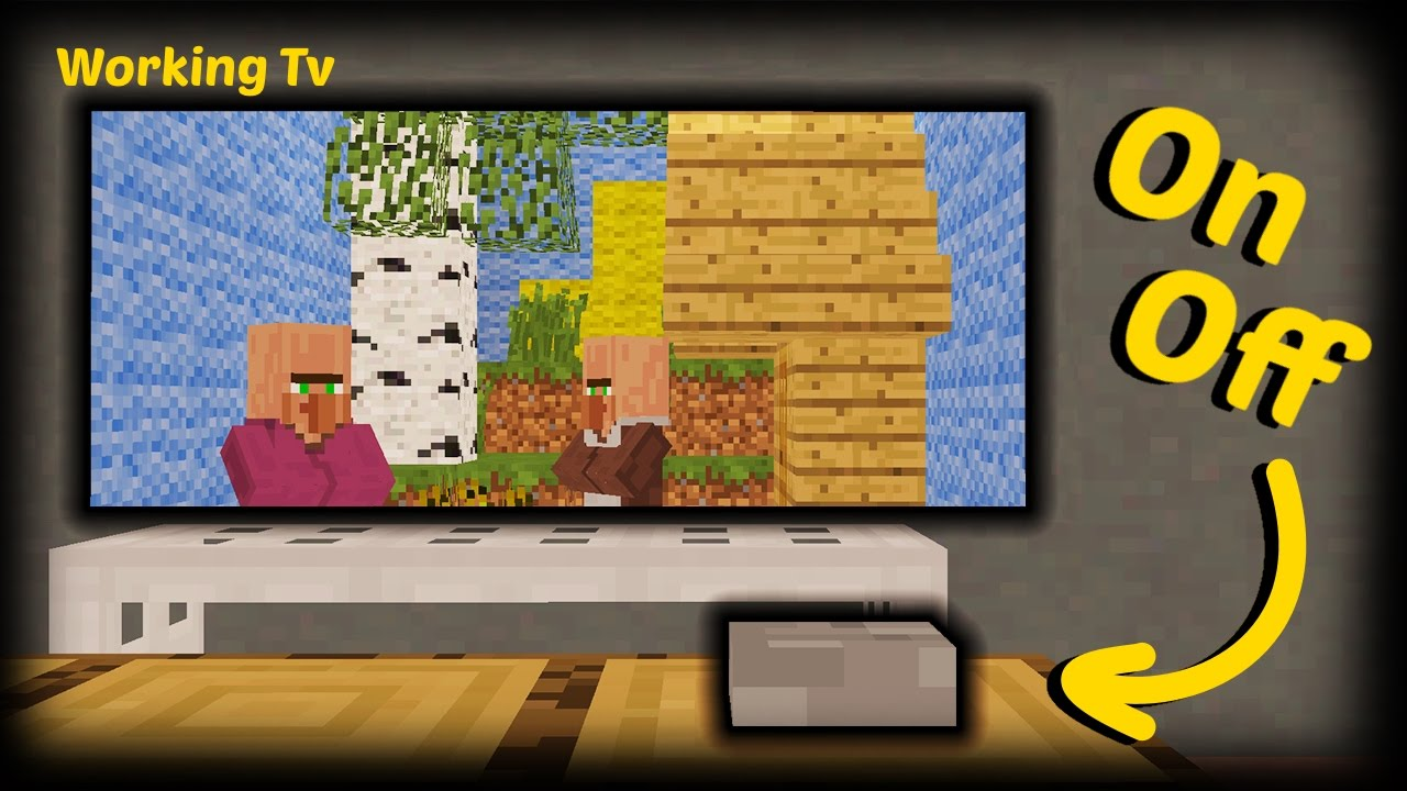 how to make a tv in minecraft. Minecraft - How To Make A Working Tv In O