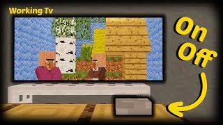Minecraft - How To Make A Working Tv