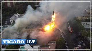 🔥 Chili: une ÉGLISE incendiée par des manifestants