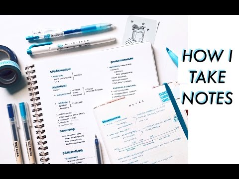 How I Take Effective & Pretty Notes // study tips