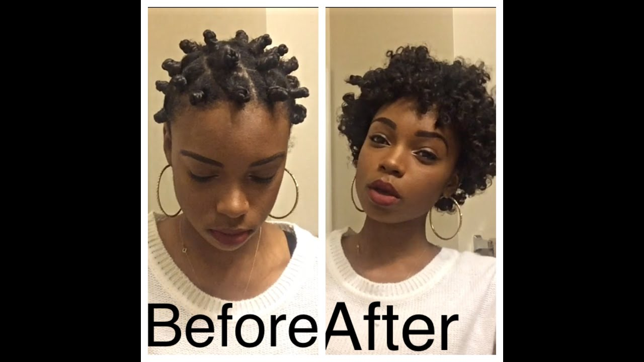 how to style afro curly hair bantu knot out transitioning hair 2135