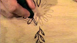 Making Flower Woodburning Signs,  Part 6