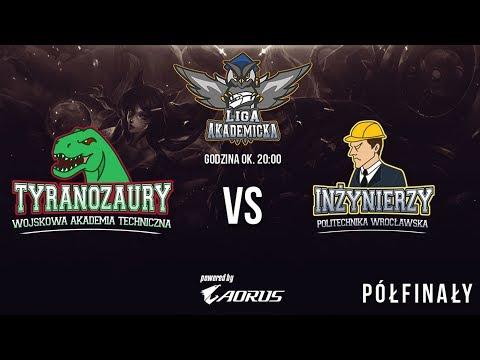 Liga Akademicka - półfinały, S1 - Inżynierzy vs Tyranozaury - 1/3