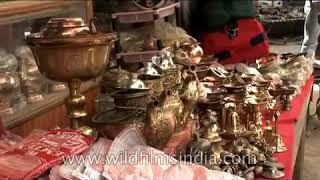Ladakhi souvenirs in a shop in Leh Ladakh