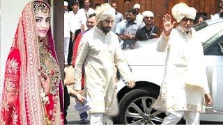 Amitabh Bachchan With Abhishek Bachchan Returns After Attending Sonam Kapoor & Anand Ahuja's Wedding