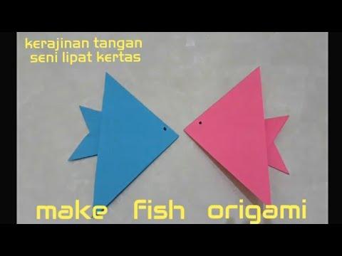 make fish origami   fish origami #1  Simple easy origami   origami mudah simpel - origami ikan