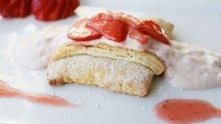 Strawberry Shortcake with Strawberry Vanilla Cream