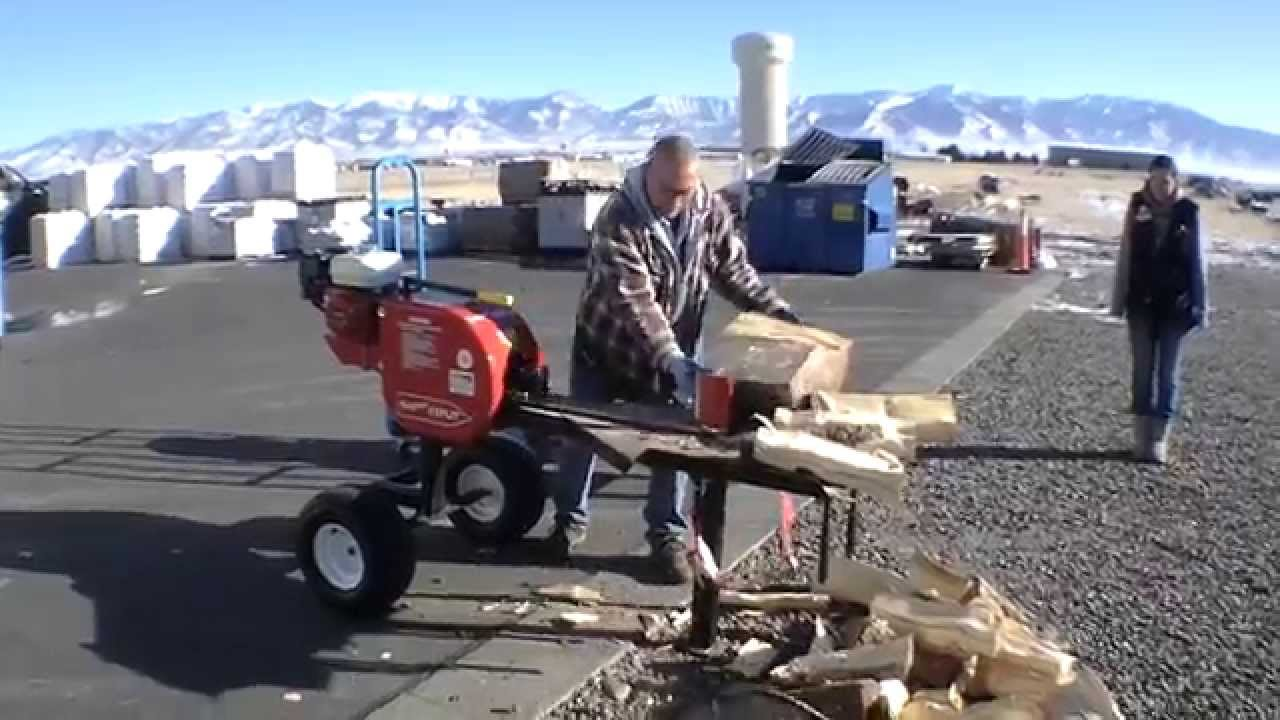 Claus Using Super Split Log Splitter At Belgrade True
