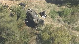 <b>Tiger Woods</b> hospitalized after rollover crash – WATCH LIVE ...