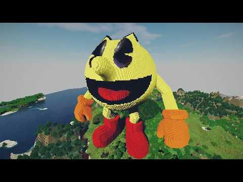 Giant Minecraft Pac-Man Build Schematic!