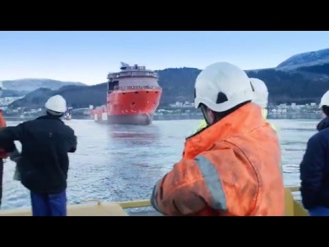 SS Nujoma launch in Norway