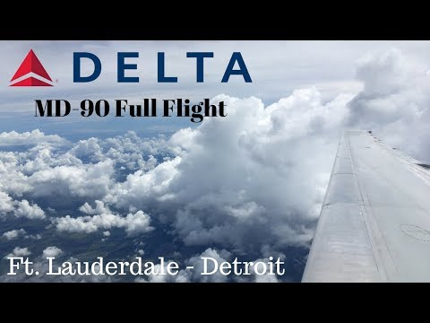 Delta MD-90 Full Flight | Ft. Lauderdale - Detroit
