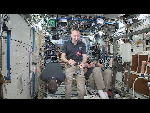 Space Station Crew Members Discuss Life in Space with Media