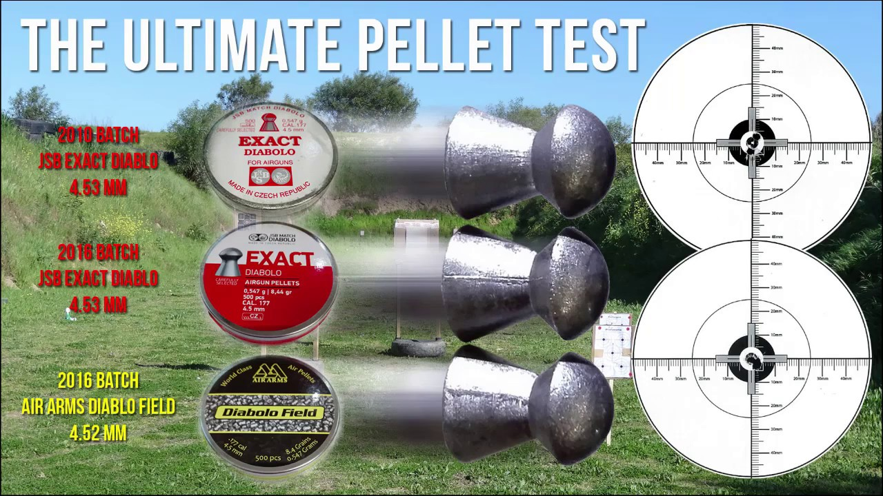 the ultimate pellet test air arms vs jsb youtube