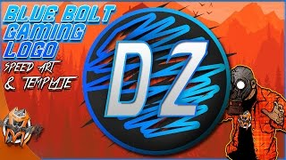 Blue Bolt Gaming Logo - Template & Amazing Speed Art
