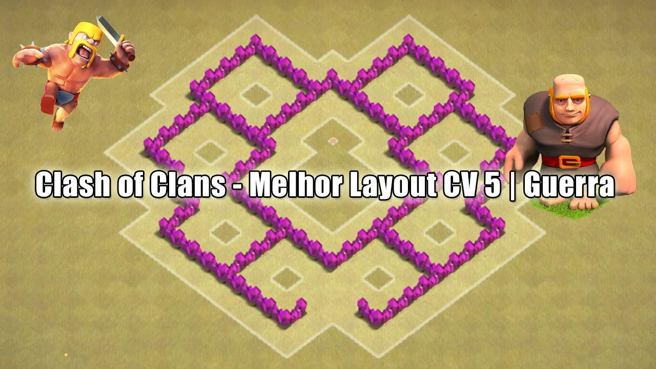 clash of clans melhor layout cv 5 guerra