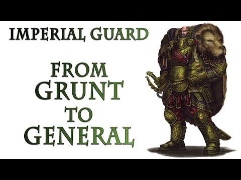 Warhammer 40k Lore - The Imperial Guard, Ranks and Hierarchy