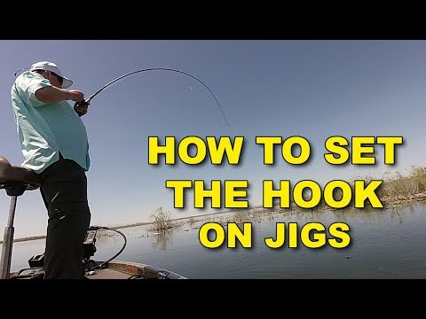 How To Set The Hook On A Jig (This Works!)   Bass Fishing