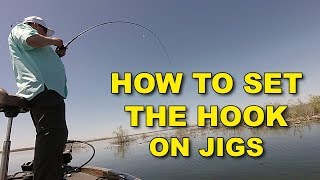 How To Set The Hook On A Jig (This Works!) | Bass Fishing