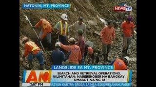 BT: Search and retrieval operations sa Natonin, Mt. Province, nilimitahan