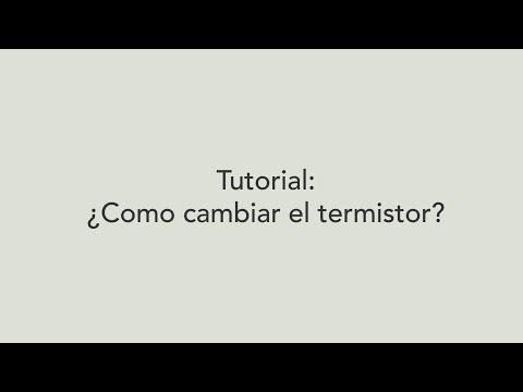 Como cambiar el termistor