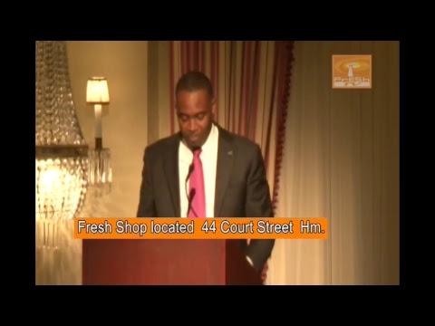 Fresh TV Bermuda Live Stream Premier of Bermuda  David Burt, Guest Speaker at BIU DInner