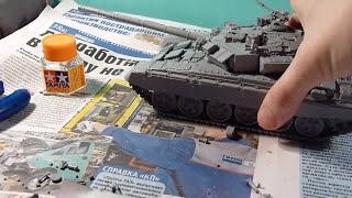 Сборка модели танка Т-90 1/35 ZVEZDA