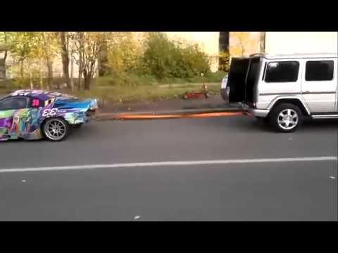 Перетягивание канат машинами Toyota Supra и Mercedes Benz G Class  (33)