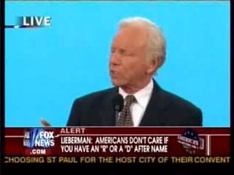 Republican National Convention Joe Lieberman
