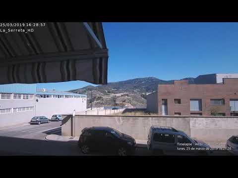 Timelapse Alcoi - La Serreta 25-03-2019