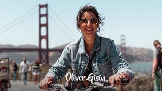 Biking across the Golden Gate Bridge in San Francisco!