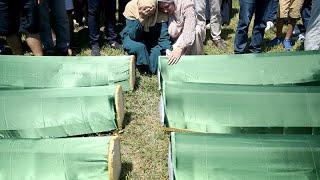 Похороны жертв боснийской войны
