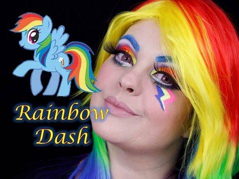VEDA 20 - MY LITLE PONY RAINBOW DASH EQUESTRIA GIRL MAKEUP TUTORIAL - MAQUIAGEM ARTÍSTICA