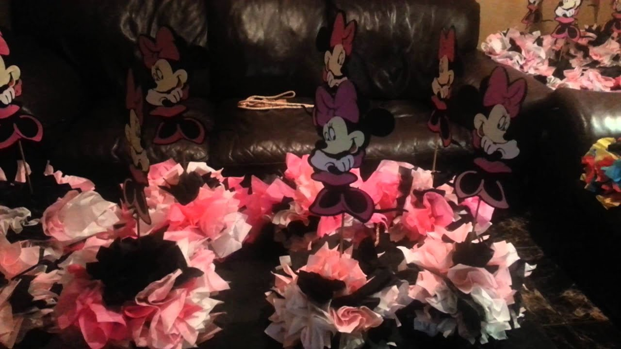 Mickey And Minnie Mouse Table Centerpieces YouTube