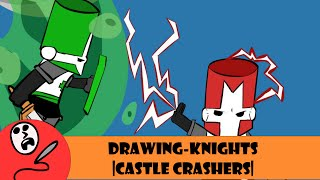 Drawing- Knights (Castle Crashers- Red, Green, Yellow and Pink Knight) [Deadtuna]