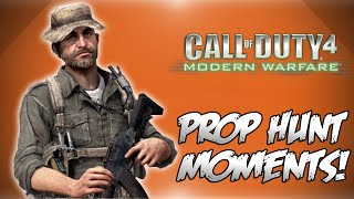 Cod4 Prop Hunt! - Claymore Backfire, Sneaky Vanoss, Satellite Trolling & More! (funny Moments)