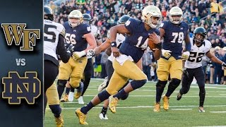 Wake Forest vs. Notre Dame Football Highlights (2015)