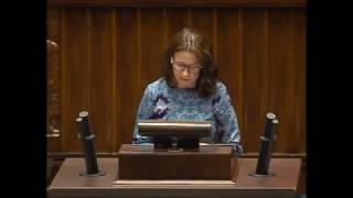 Teresa Glenc - wystąpienie ws. ograniczenia handlu w niedziele