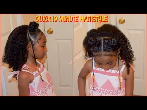 Quick/Easy 10 Minute Kids/ Girls Natural Hairstyles