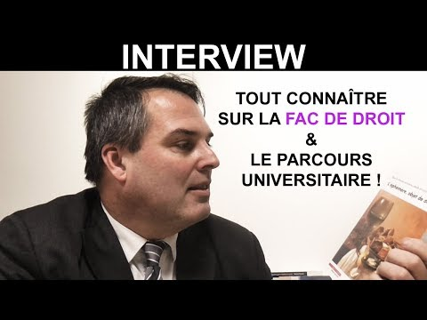 LES ETUDES, LA FAC DE DROIT & LA CARRIERE UNIVERSITAIRE SELON LE Pr. FRANCK PETIT