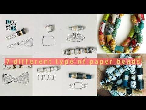 How To Make Paper Beads | 7 designs | Best Out Of Waste