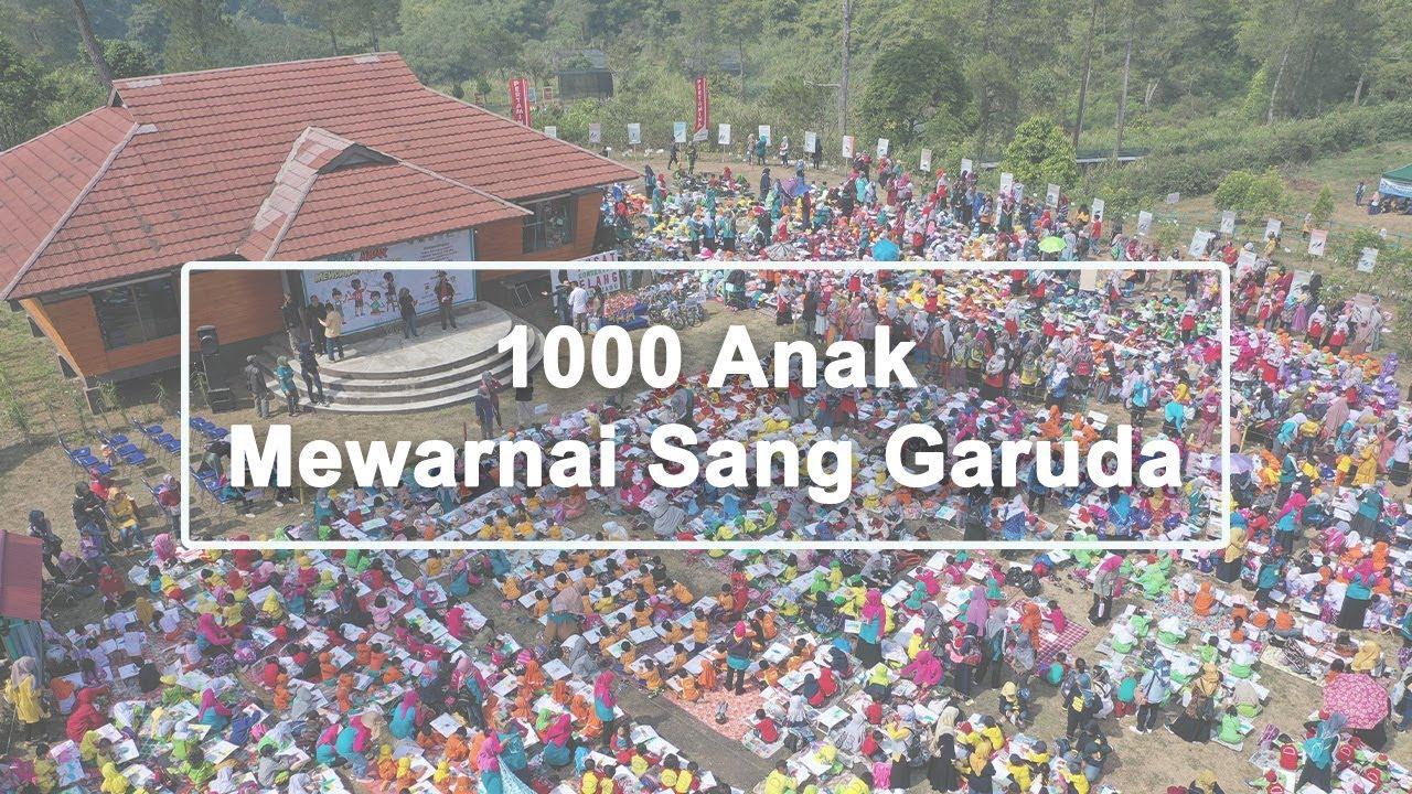 1000 Anak Mewarnai Sang Garuda Di Kawasan Konservasi Elang Kamojang Garut